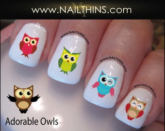 Owls Nail Decal NAILTHINS Nail Art Owl Nail Design