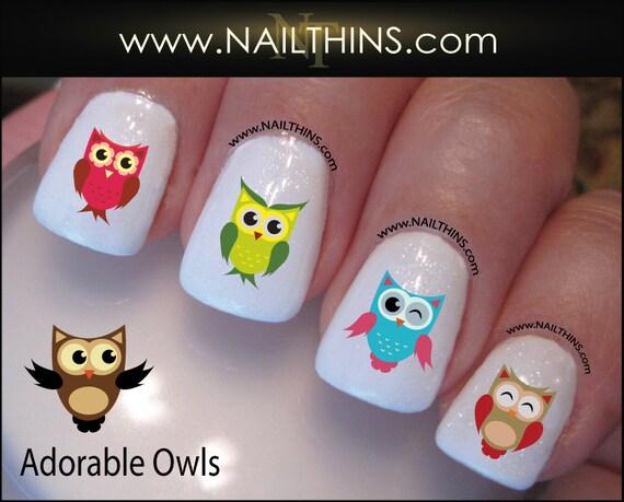 Owls nail decal nailthins nail art owl nail design from nailthins owls nail decal nailthins nail art owl nail design from nailthins on etsy studio prinsesfo Image collections