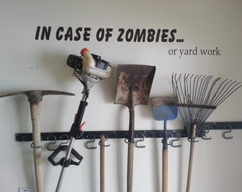 CLEARANCE Zombies, In Case Of Zombies Wall Decal, Funny Sticker - Beige Only