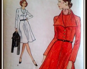 Very Easy Vogue 8374  Misses' Dress And Jacket  Size  14  Uncut