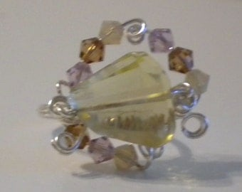 Large Quartz Stone ring