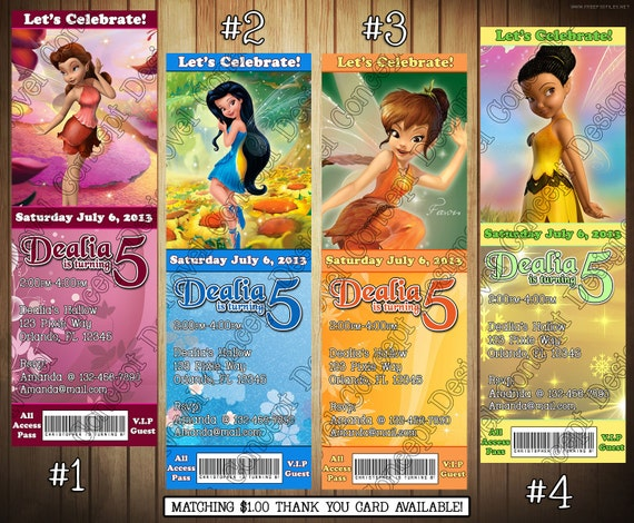 Novel concept designs tinkerbell birthday invitations and thank thank you 1 bookmarktalkfo Image collections