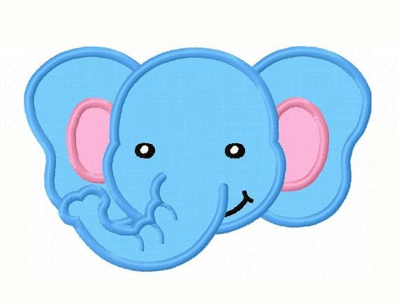 Elefante cara apliques bordados mquina no