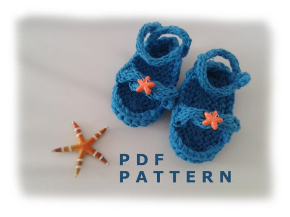Knitted Starfish Pattern : Instant download Knitting PATTERN for baby by LunaticKnitter