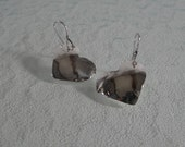 Artisan Fine Silver Hammered and Domed Heart Earrings
