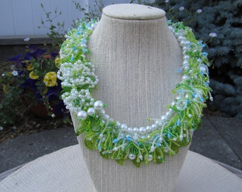 Summertime Flowers Beadwoven Necklace (INBW Team)