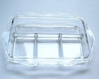 Dish, Vintage, Glass, Rectangular, Small