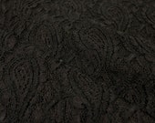 Masala Black Stretchy Lace Fabric by the Yard, for Bridal, Arts and Crafts, Decoration - 1 Yard Style 310