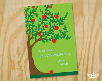 Apple to Tree Mothers Day Card Printable