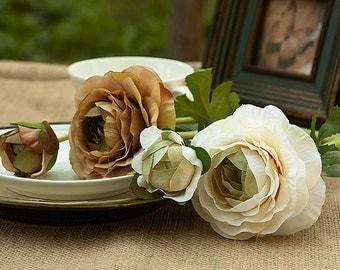 Camellia flower DIY wedding bouquet, wedding decoration flower bouquet 1 PCS silk flowers simulation F262