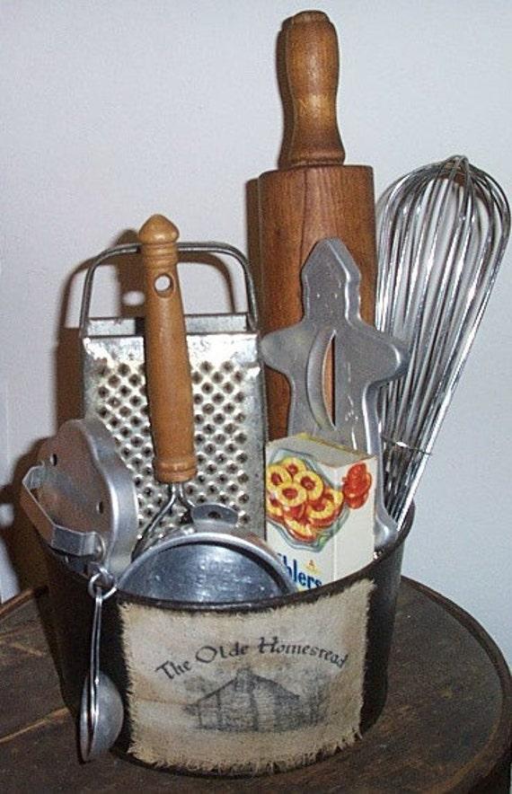 Vintage Kitchen Gathering Centerpiece Vintage Kitchen