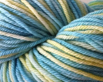 Soft Blue and Yellow - 100% Superwash Merino Hank/Skein - Blue Yellow