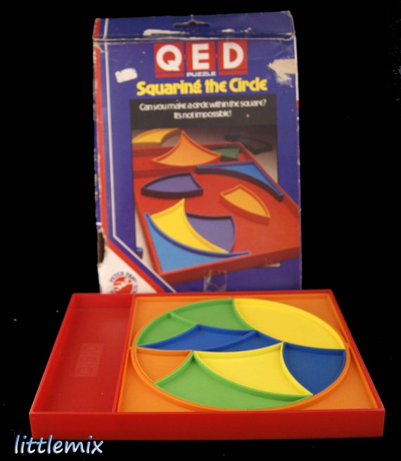 Vintage Qed Puzzle Squaring The Circle game by Peter by ...