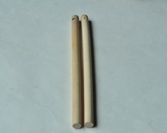 4pcs Wood Stick Unfinished Natural Wooden Stick Round Huge Long Stick - No Varnish & No Lacquer 200x10mm MT311