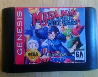 Mega Man the Wily Wars Sega Genesis repro cart