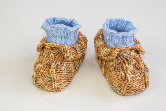 Knitting Patterns For Seamless Baby Booties : KNITTING PATTERN Seamless Baby Booties Cable by heaventoseven