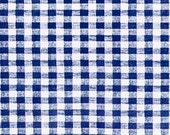 "54"" Royal Blue Gingham OilCloth with Flannel Backing (25 Yard Roll)"