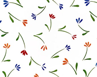 """54"""" Tulips OilCloth without Felt Backing - 40 Yards"""