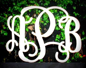 "Wood Monogram 18"" Width Vine Font"