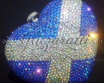 Beautiful bespoke crystal embellished clutch bags all hand finished to your specifications (encrusted satire)