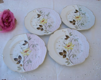 Plates - Napkin - Victorian China - Set of 4 - Antique