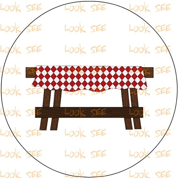 items similar to picnic table clipart clip art instant digital download no 3157 on etsy. Black Bedroom Furniture Sets. Home Design Ideas