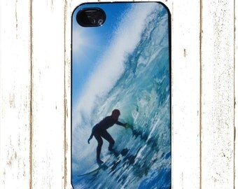 Tropical Surf Maui Cell  Phone Case for Iphone 5/5S and 6/6S, Surf Rubber Phone Case, Surfing Iphone Case