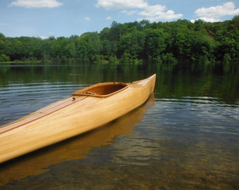 Wood Strip Kayaks and Canoes