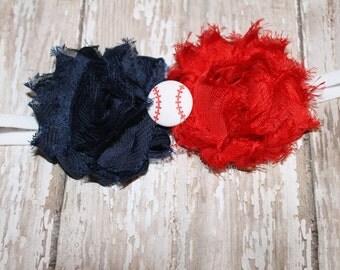 Baseball Headband, MLB Headband, Braves Headband, Boston Redsox Headband,Newborn Headband, Girls Headband