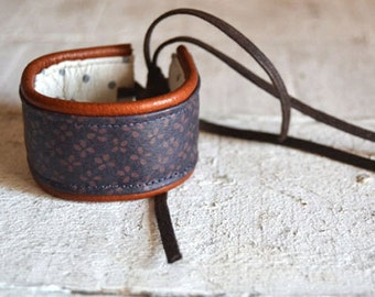 Double face handmade Leather  Bracelet