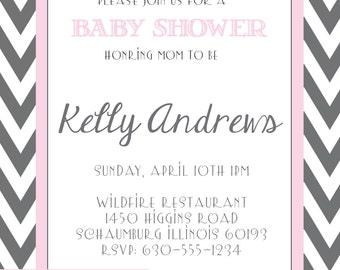 Baby Shower Invitation (Digital Print File)