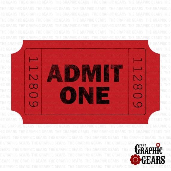 Movie Ticket Stub Clip Art - Admit One Red Ticket Stub Clip Art ...