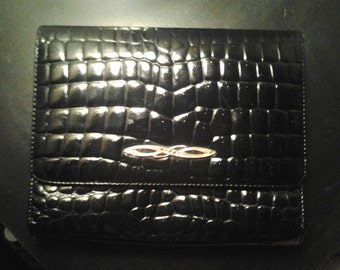 Vintage Esquire leather faux croc purse
