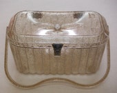 Gold Glitter Lucite Handbag, 1960's