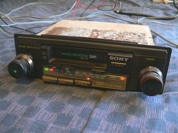 Items Similar To Vintage 80's Sony Cassette Car Stereo 2