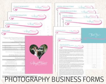 Photography business forms photography price list template photography contract business forms