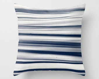 Snow and Tree shadows, Pillow Cover, 16x16, home decoration, muted colors, trees, winter, nature, snow, geometry, lines