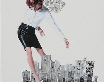 Model Invasion 1 - Paper Collage