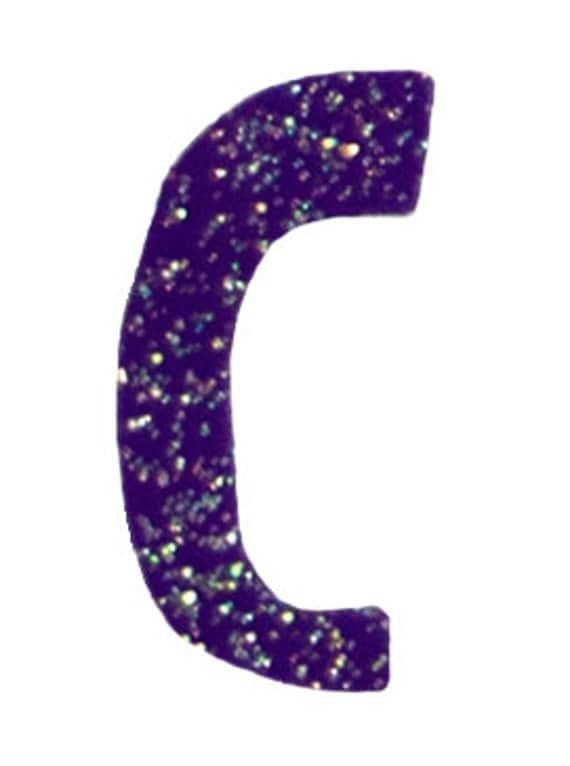 Purple Letter C