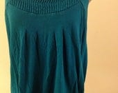 Green Pleated Tank Top, Size Large