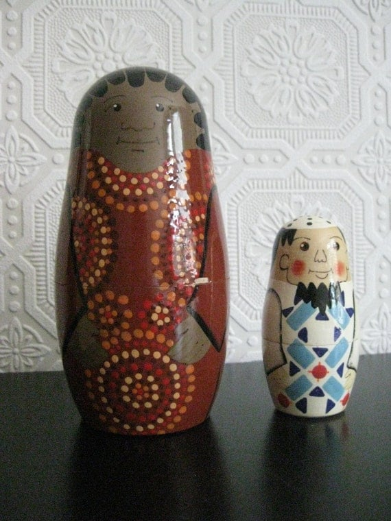 Handmade Muslim Nesting Doll Pair