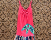 SALE*******REVIVAL Upcycled Tank Top Dress, Hippie, Bohemian, Boho, Junk Gypsy, Women's Small to Medium, Recycled, Repurposed, EcoFriendly