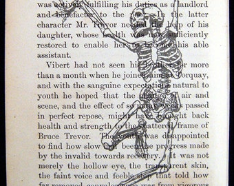 "Vintage Prints On Vintage Pages ""Right Dancing Skeleton"""