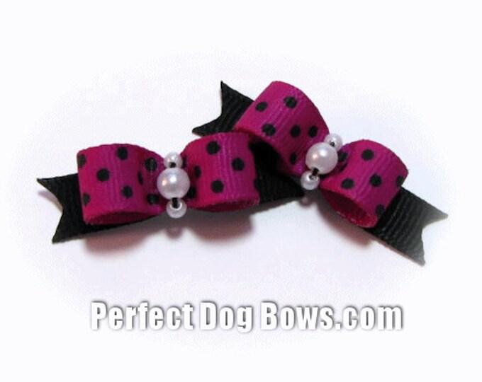 Dog Bow - Small Dog Bow - Purple Dog Bow - Yorkie Dog Bow - Puppy Dog Bow - Show Dog Bow - Dog Bow Tie