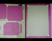 Scrapbook Layout Shopping Girl friend Vacation Trip  2 pages 12x12