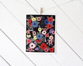 Flower Melody Art Print - gouache reproduction