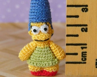 PDF PATTERN - Crochet Miniature Cartoon Woman Amigurumi Tutorial Pattern