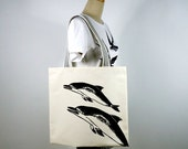 Dolphins Canvas Tote Bag (Limited Edition)