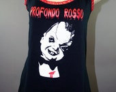 Profondo Rosso Deep Red Horror Slouch Slub Tank Top