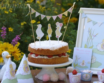 Mini Cake Bunting - Little Duckling's Party